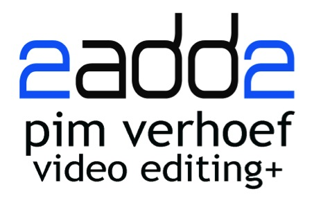 Logo 2add2 Pim Verhoef Video Editing+